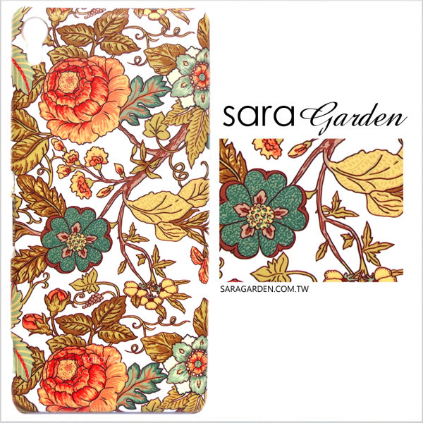 【Sara Garden】客製化 手機殼 HTC 816 墨爾本 復古 碎花 手工 保護殼 硬殼