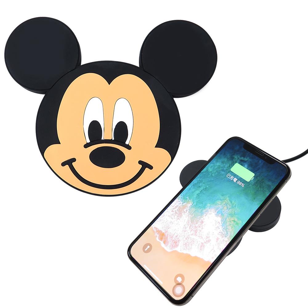 Disney迪士尼 米奇 可愛大頭無線充電座/充電板
