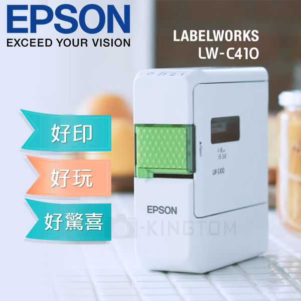 加贈1捲標籤帶 EPSON 愛普生 LW-C410 文創風家用藍芽手寫標籤機