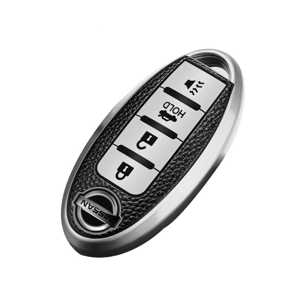 QinD NISSAN 車鑰匙保護套(智能四鍵款)(誘惑紅)