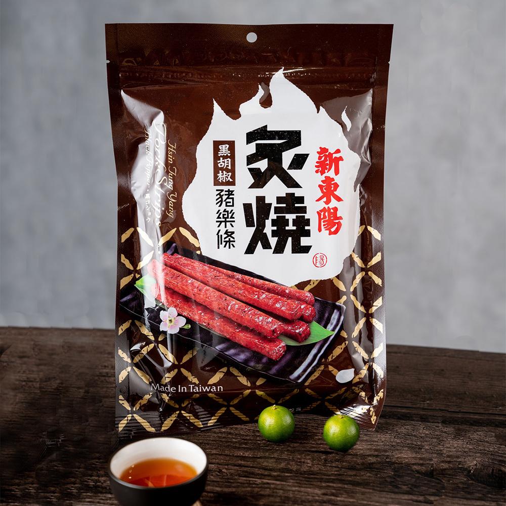 【新東陽】炙燒豬樂條-黑胡椒 (165g*2包)