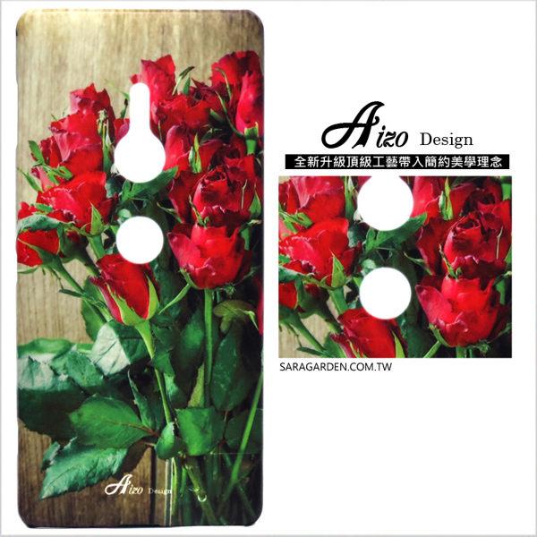 【AIZO】客製化 手機殼 Samsung 三星 A7(2018) 保護殼 硬殼 木紋玫瑰花