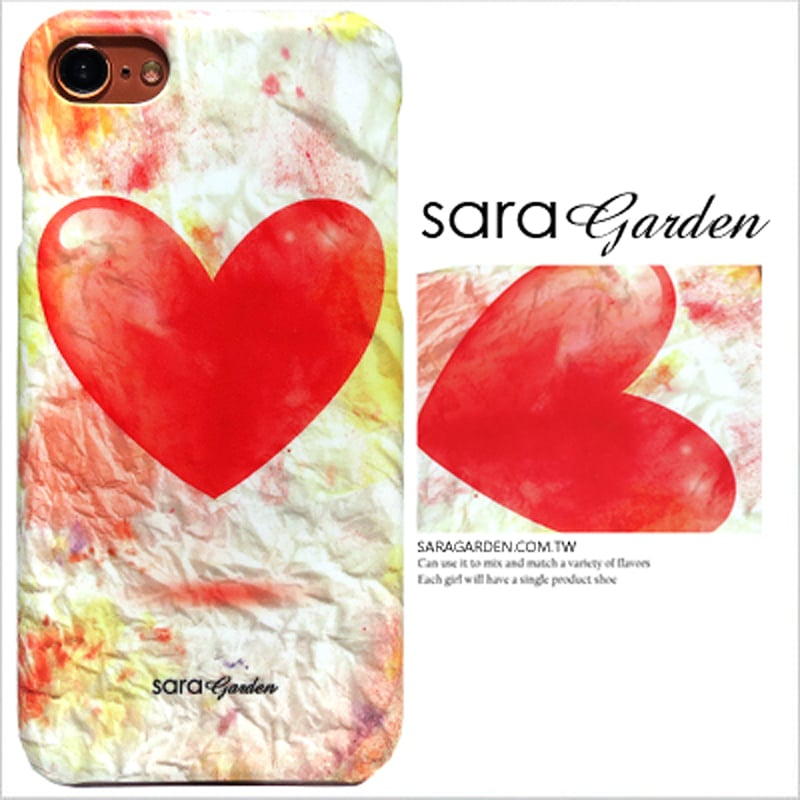 【Sara Garde】客製化 手機殼 蘋果 iphone7plus iphone8plus i7+ i8+ 彩虹愛心皺褶紙 保護殼 硬殼