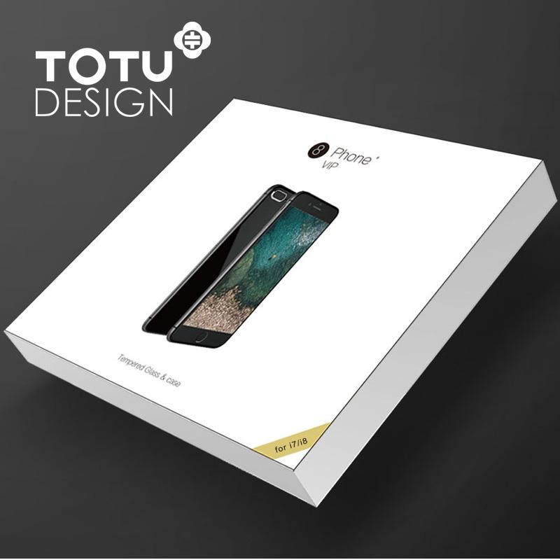 【TOTU台灣官方】VIP禮盒套組 iPhone 8 7 i8 i7 手機殼 鋼化膜 保貼 軟殼