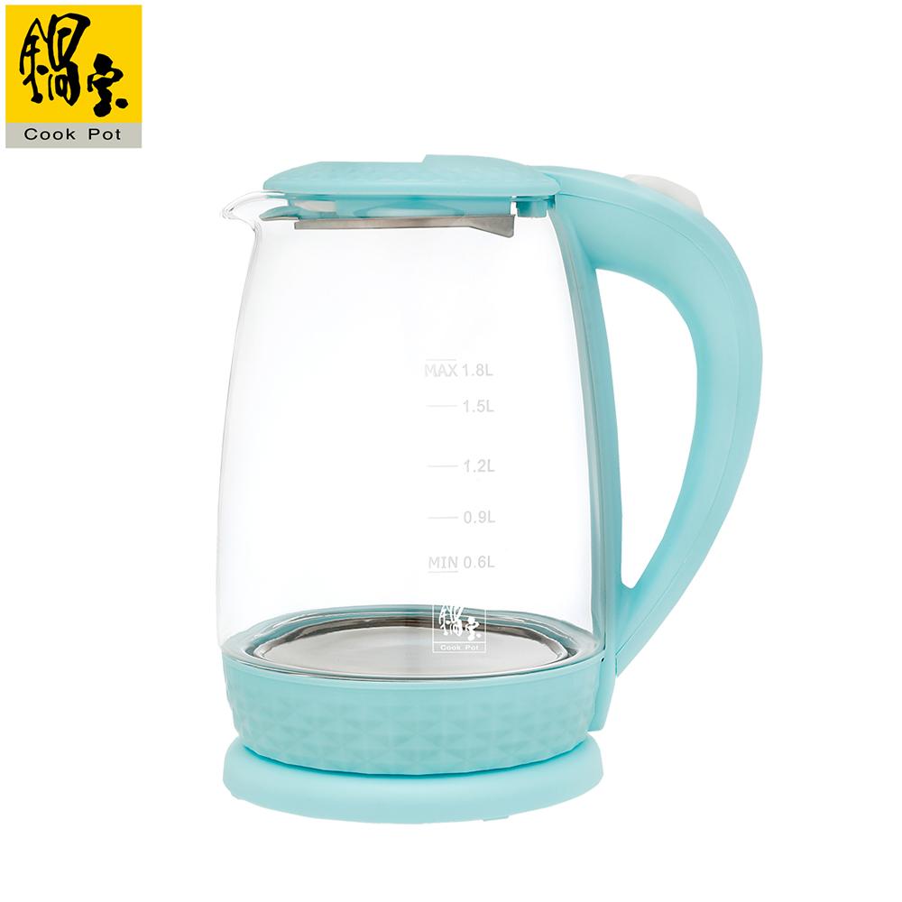 【鍋寶】玻璃快煮壺 1.8L-藍 KT-1820B