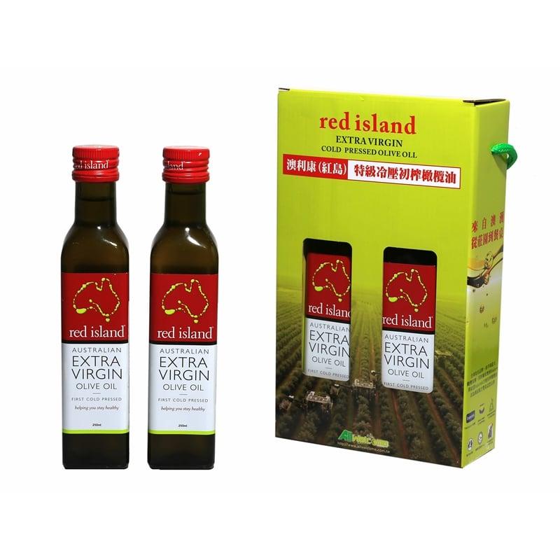 澳洲 red island 特級冷壓初榨橄欖油 250ml 雙入禮盒組