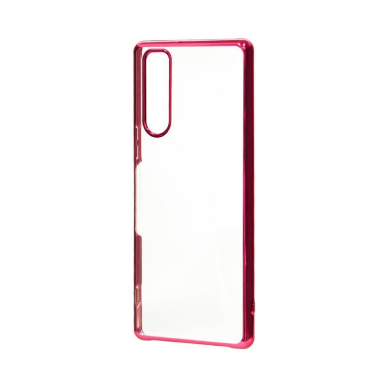 SONY Xperia 5 電鍍邊框透殼 紅色