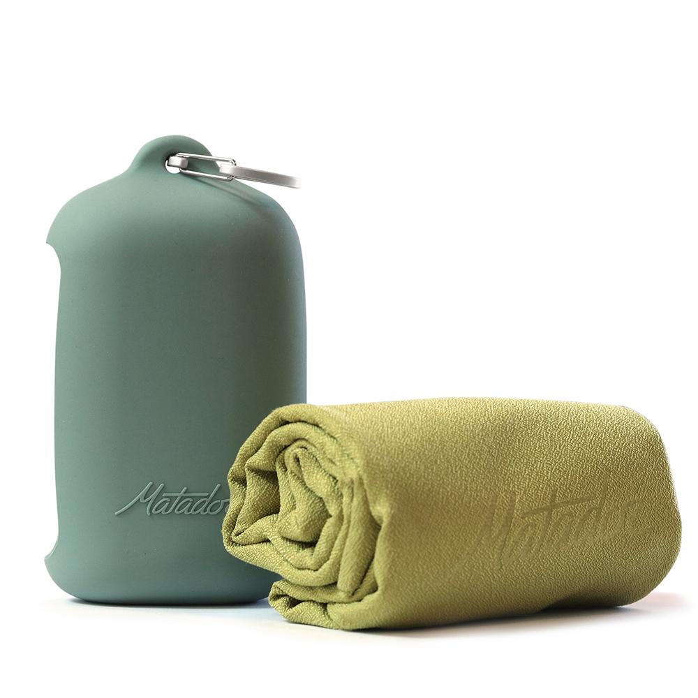 Matador NanoDry Trek Towel 口袋型奈米快乾毛巾(L)-黃