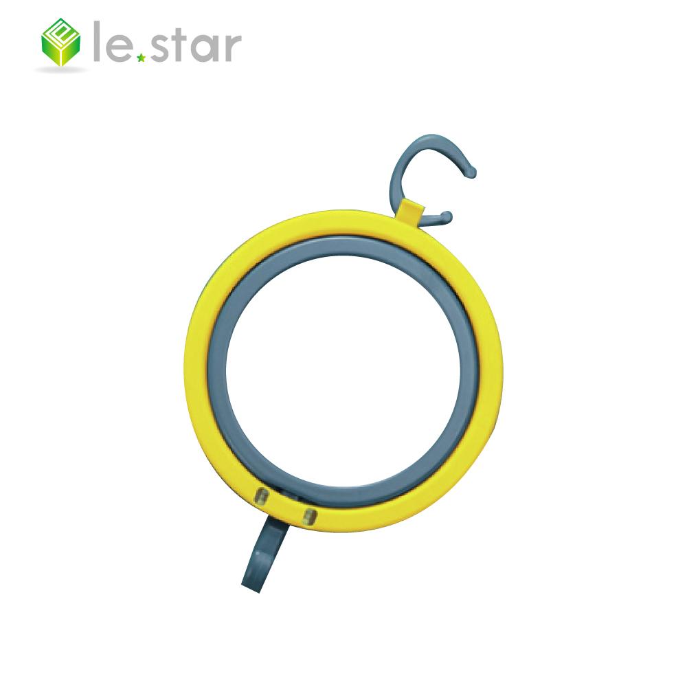 lestar 馬卡龍系列多用途帽子收納環、架組 焦黃+深藍