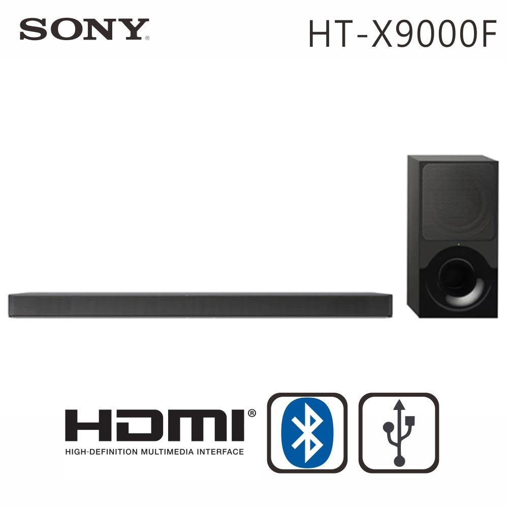 【送國際14吋微電腦立扇+POLARIS行動電源】SONY索尼 2.1聲道 環繞家庭劇院音響(HT-X9000F)