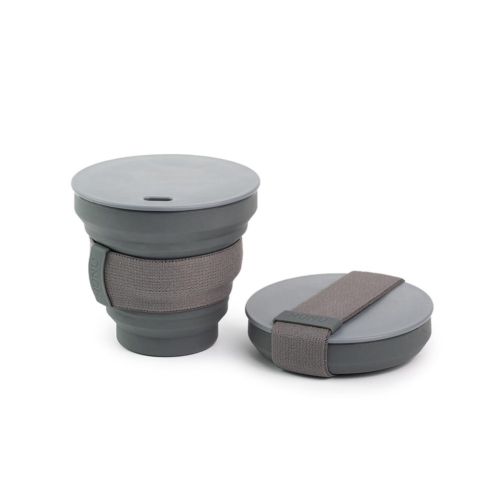HUNU環保摺疊口袋杯-碳灰