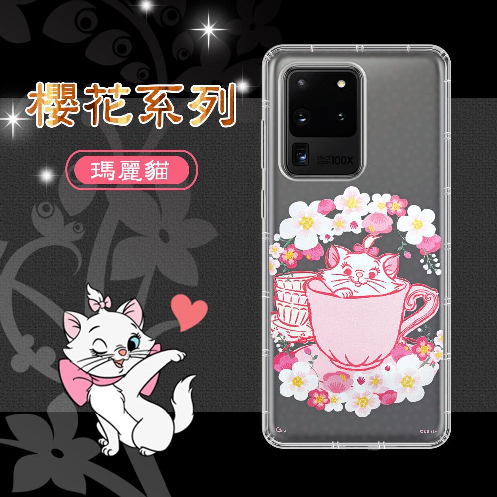 迪士尼授權 櫻花系列 三星 Samsung Galaxy S20 Ultra 空壓防護手機殼(瑪麗貓)