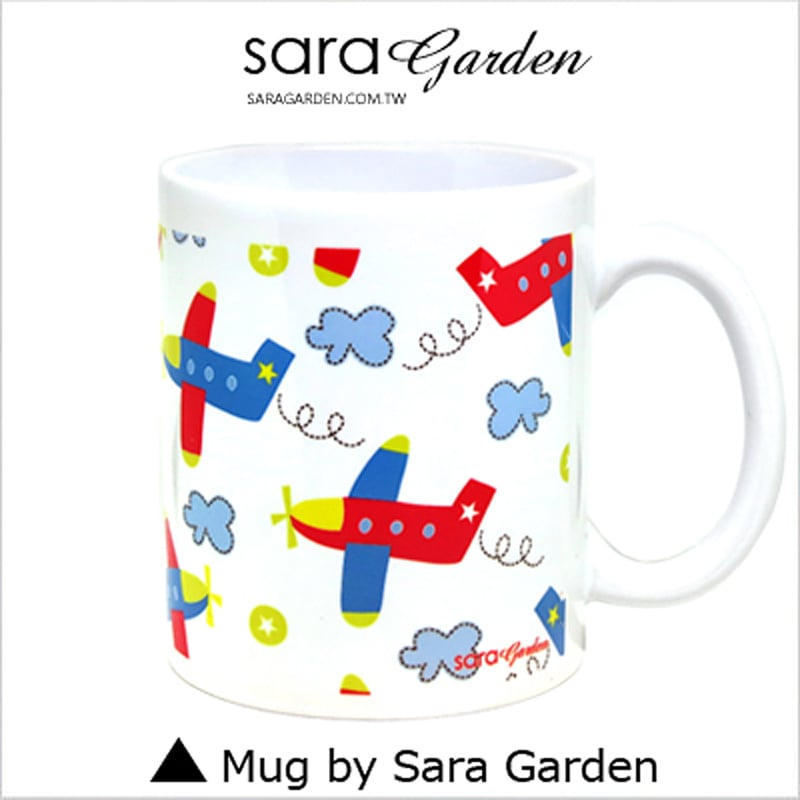 【Sara Garden】客製 手作 彩繪 馬克杯 Mug 手繪 插畫 輕旅行 雲朵 飛機 咖啡杯 陶瓷杯 杯子 杯具 牛奶杯 茶杯