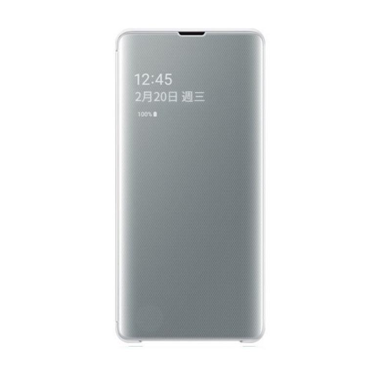 SAMSUNG Galaxy S10+ 全透視感應皮套 白