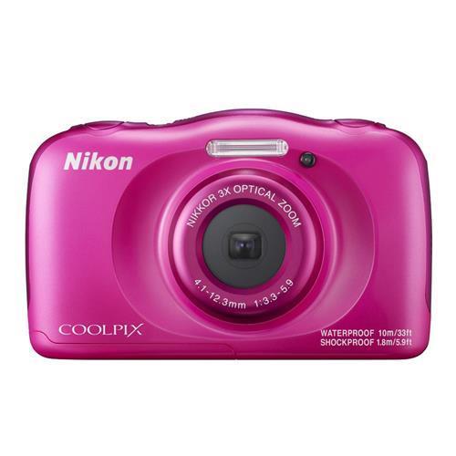 NIKON COOLPIX W100 - 粉色 數位相機(公司貨)