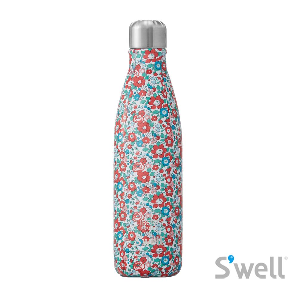 【S'well】紐約時尚不鏽鋼保冷保溫瓶-Liberty Fabrics&S'well系列 Betsy Ann 17oz(500ml)