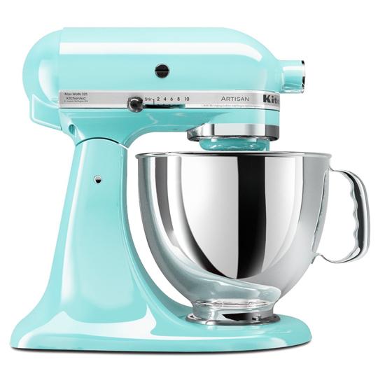 【KitchenAid美國】4.73L抬頭式攪拌機 KSM150PSIC 蘇打藍