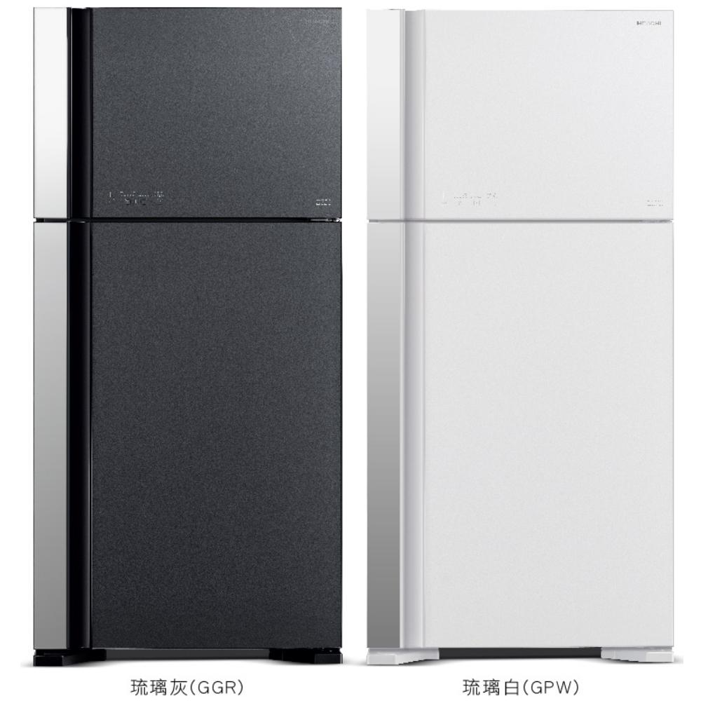 【HITACHI 日立】570L 變頻兩門冰箱-琉璃白 RG599BGPW