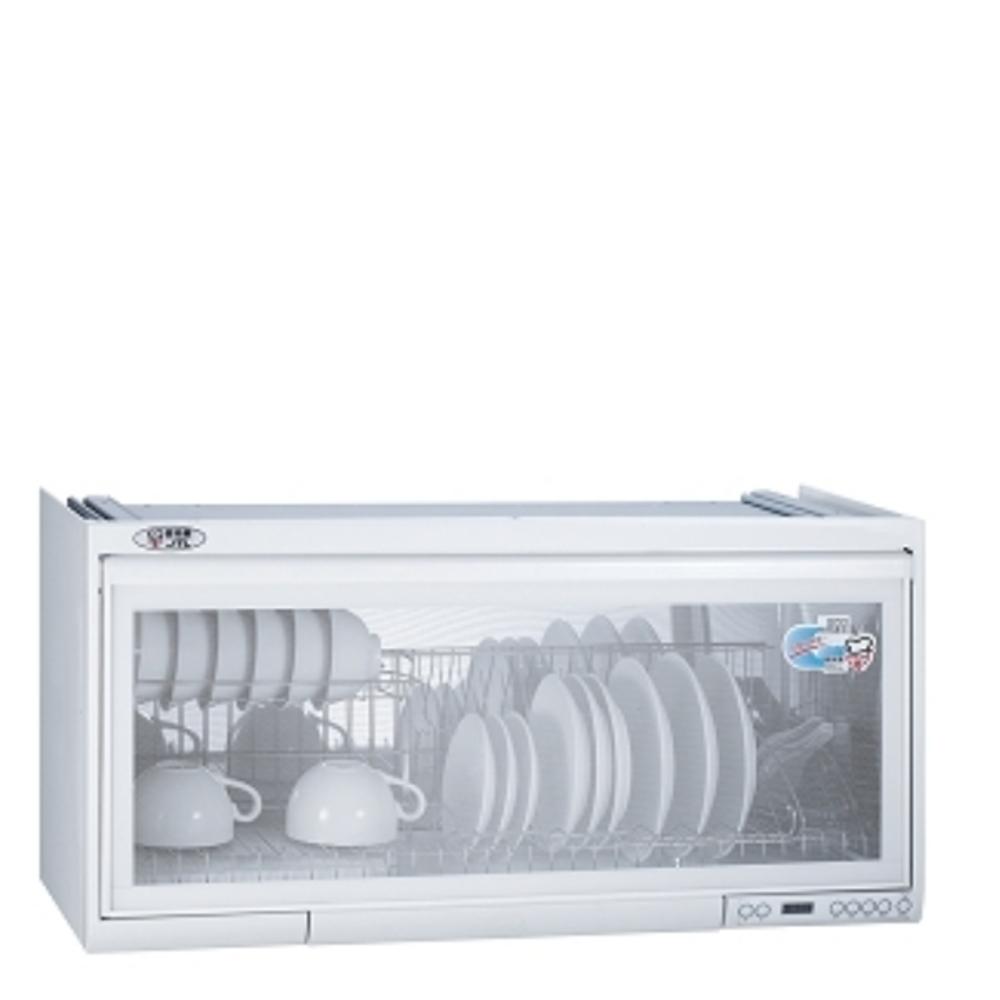 (全省安裝)喜特麗90公分臭氧電子鐘懸掛式JT-3809Q同款)烘碗機白色JT-3690QW
