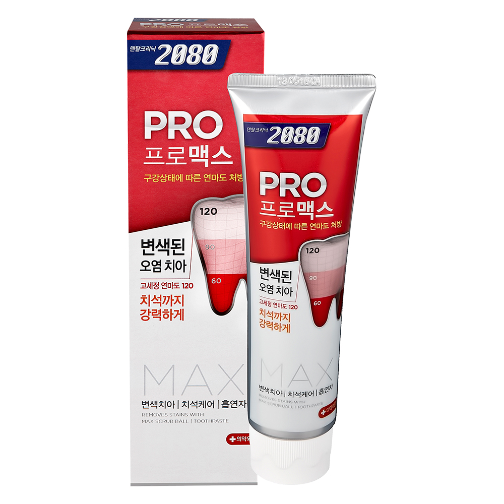 【韓國2080】專業亮白牙膏-除垢脫漬125gX16入