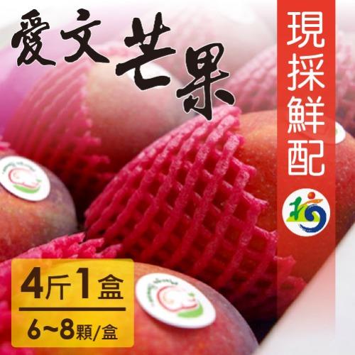 【家購網嚴選】愛文芒果4斤/盒(6~8顆/盒) 枋山果樹36班