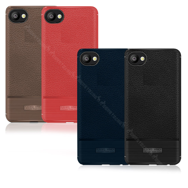 VXTRA HTC Desire 12 防滑手感皮紋 軟性手機殼 (純黑)