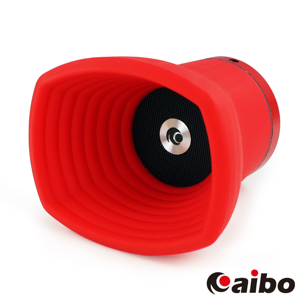 aibo Bluetooth X-HORN 號角II多媒體藍芽喇叭(LY-USB18)-紅色