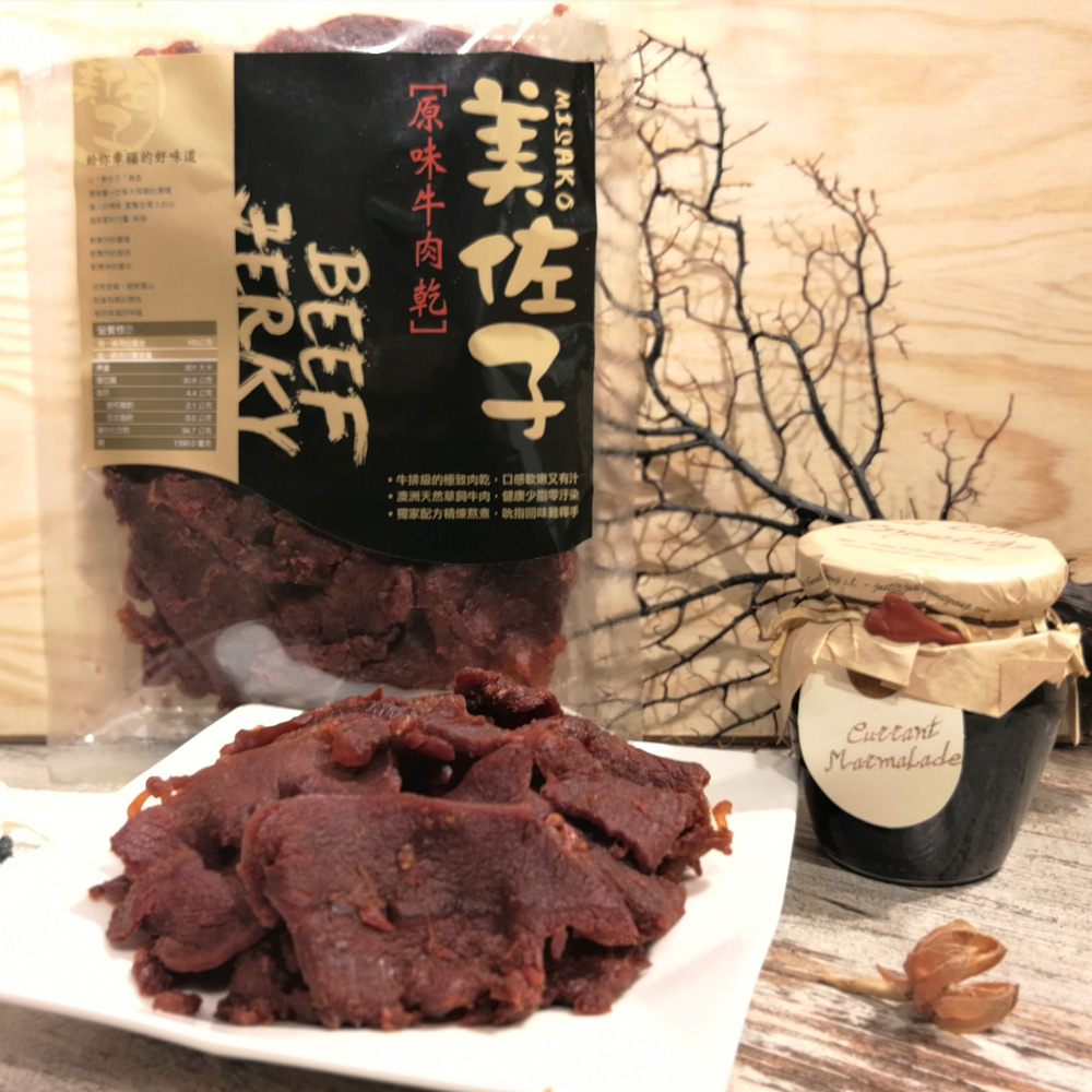《美佐子MISAKO》肉乾系列-原味牛肉乾(150g/包,共2包)