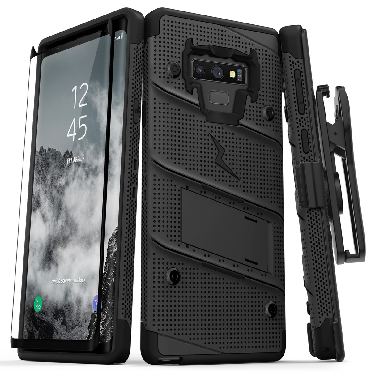 【Zizo】Bolt系列 Galaxy Note9 軍規防摔手機殼 黑