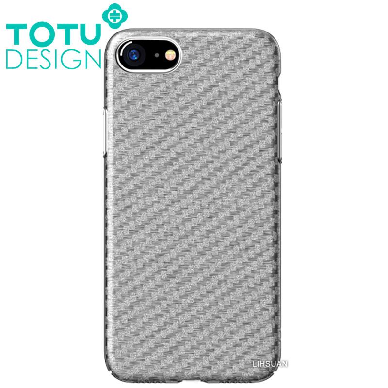 【TOTU台灣官方】iPhone8碳纖紋手機殼 雅典娜系列 銀色