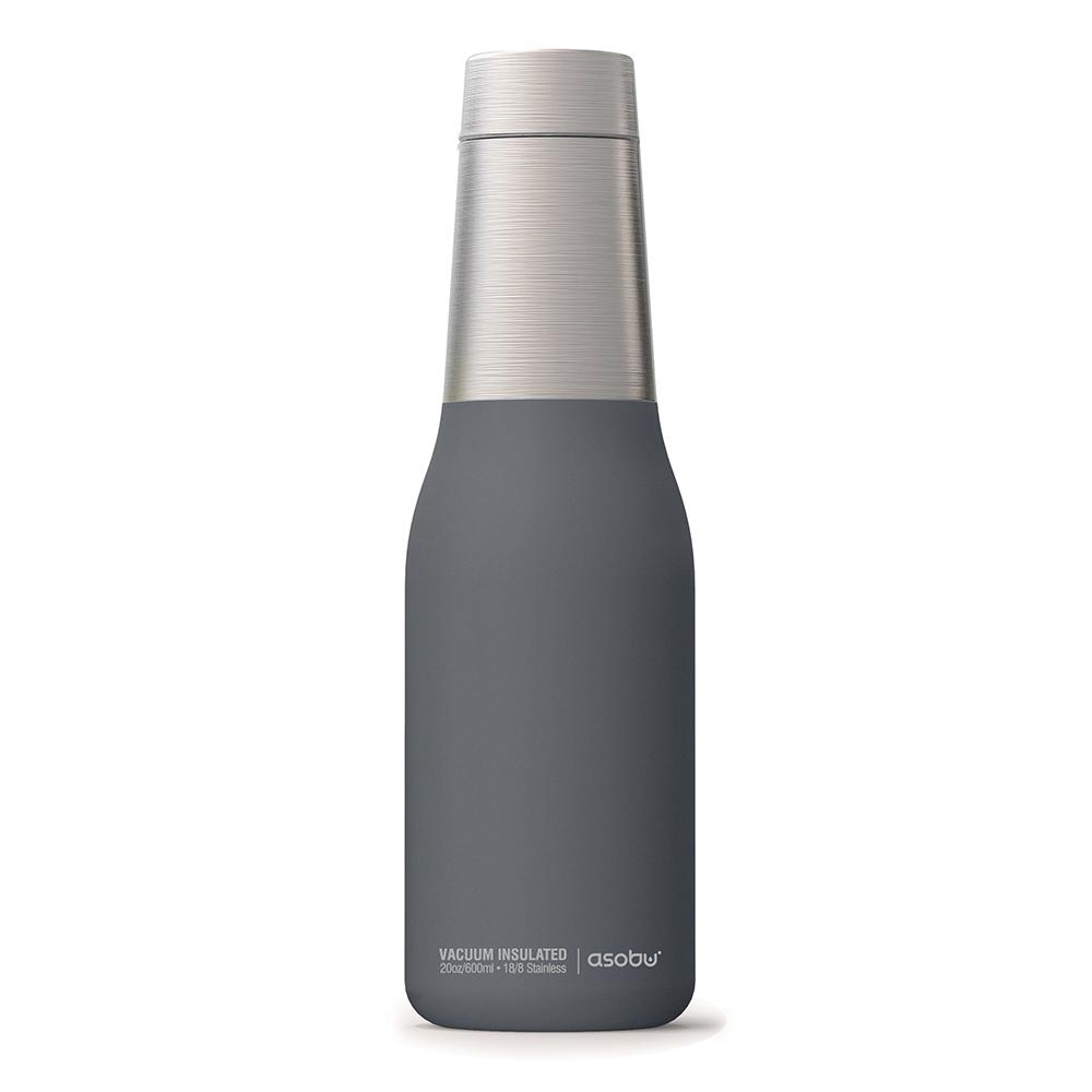 Asobu 不鏽鋼繽紛雙層保溫瓶-濛濛灰