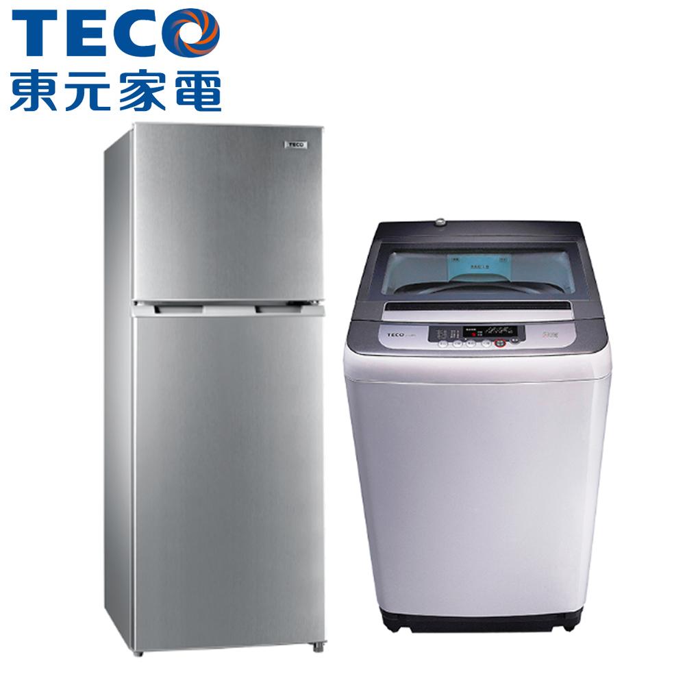 ★尾牙大禮包★【TECO東元】222L雙門冰箱+10KG直立式洗衣機R2302N+W1038FW