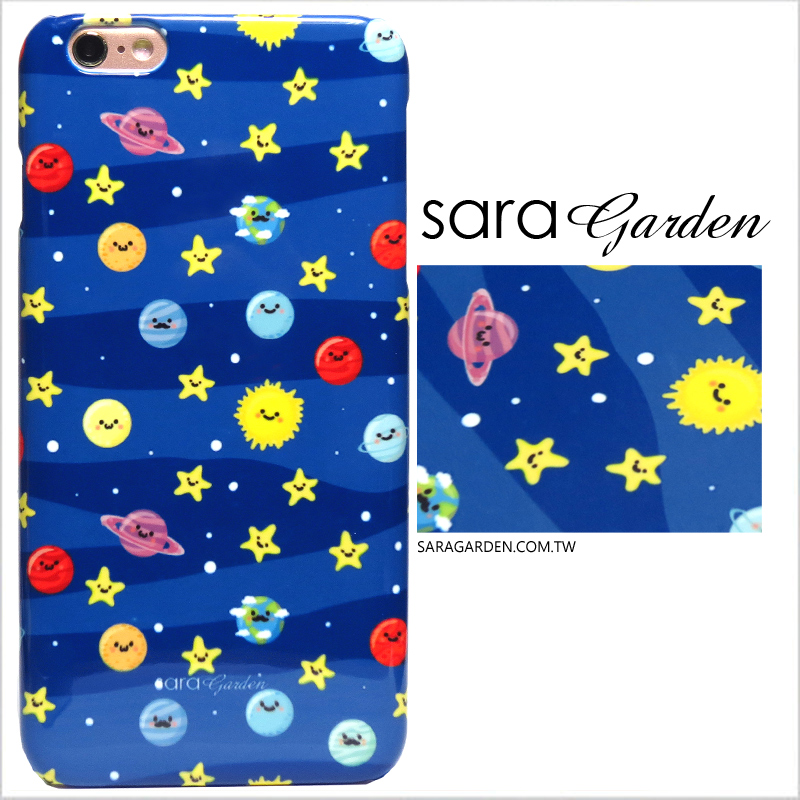 【Sara Garden】客製化 手機殼 蘋果 iPhone 6Plus 6SPlus i6+ i6s+ 5.5吋 微笑 星球 硬殼 限定