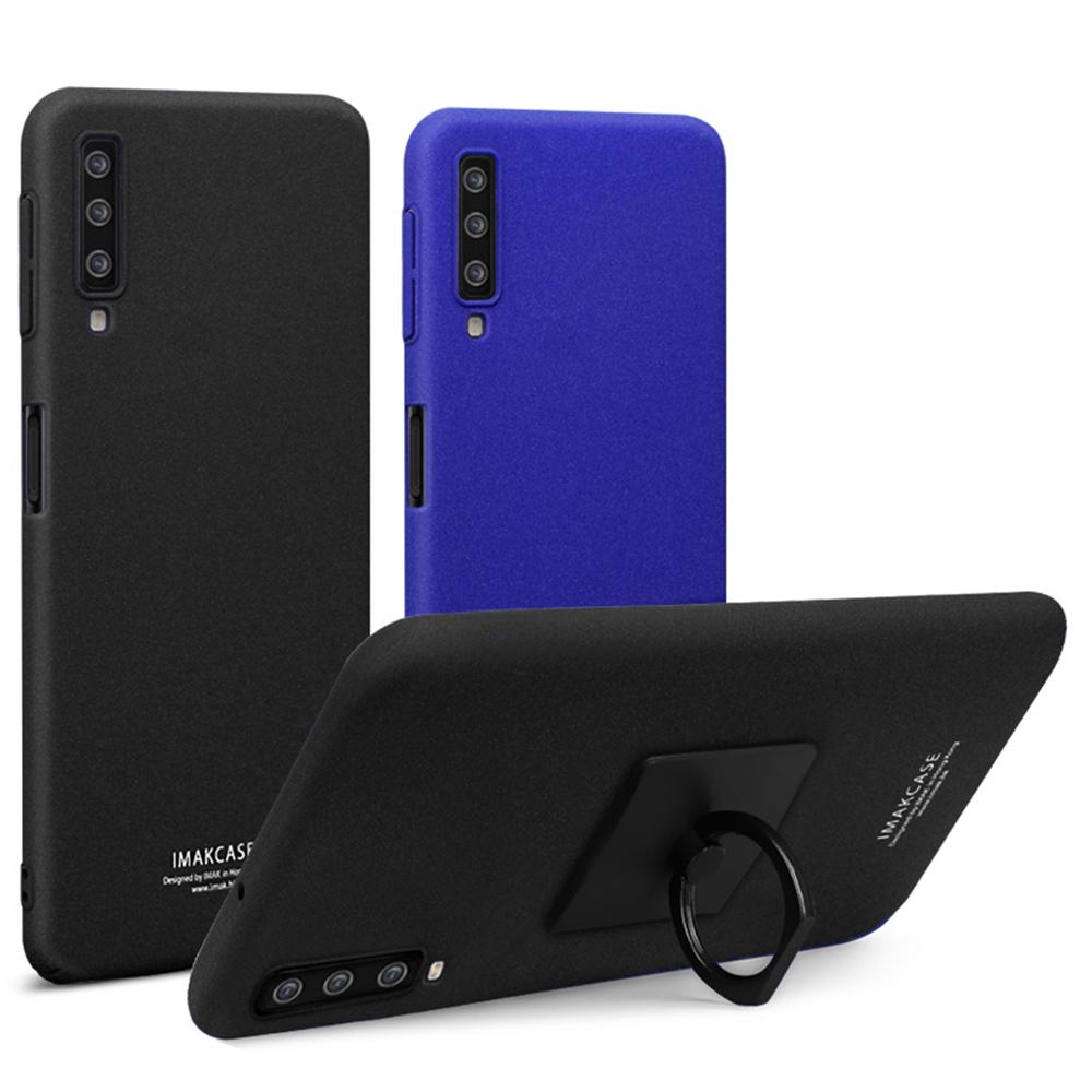 Imak SAMSUNG Galaxy A7(2018) 創意支架牛仔殼(磨砂藍)