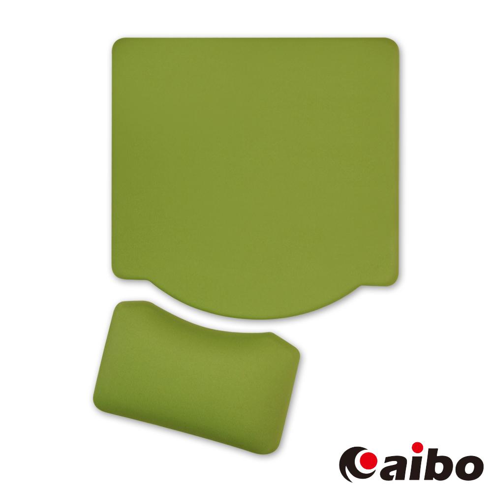 aibo MA-25 分離式矽膠護腕鼠墊 - 綠色