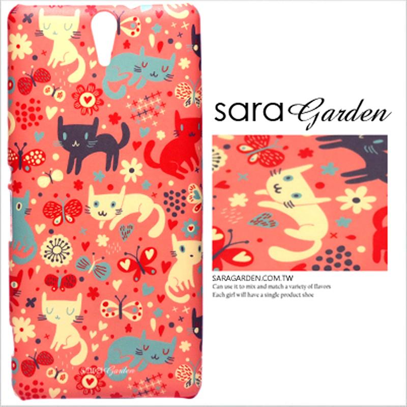 【Sara Garden】客製化 手機殼 Samsung 三星 Galaxy A70 粉嫩 貓咪 蝴蝶 手工 保護殼 硬殼