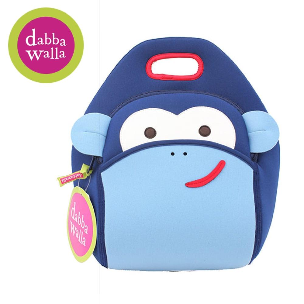 美國Dabbawalla瓦拉包 -藍色猴子兒童手提包