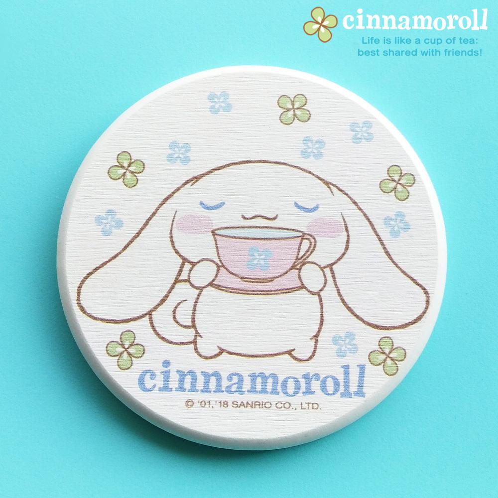 【收納王妃】三麗鷗授權大耳狗Cinnamoroll珪藻土吸水杯墊(2入一組) 【下午茶時間】