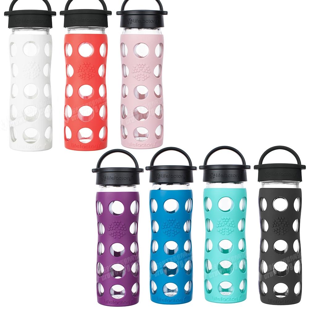 LIFEFACTORY玻璃水瓶平口475cc粉色玻璃杯CLA-475-PKB