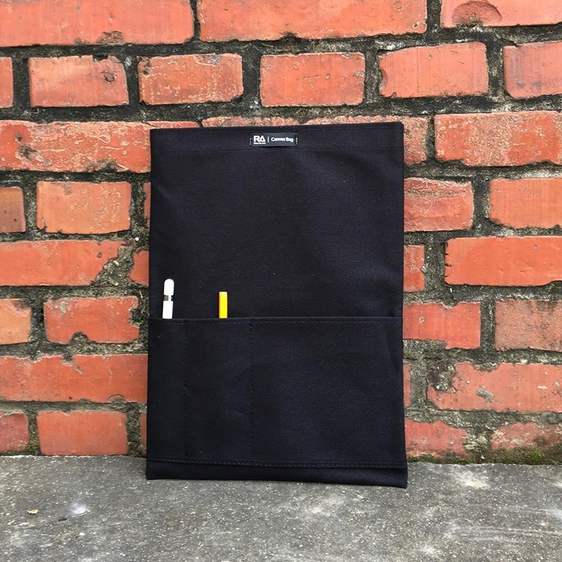 【RA】Canvas bag 磁吸帆布平板電腦保護袋-黑色 for iPad Pro12.9,Macbook Air13.3,MacBook Pro 13