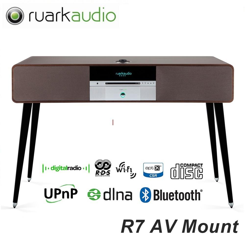 送飛利浦43吋電視【英國Ruark】 落地型藍牙/CD/收音機All-In-One主動式喇叭R7(消光白)