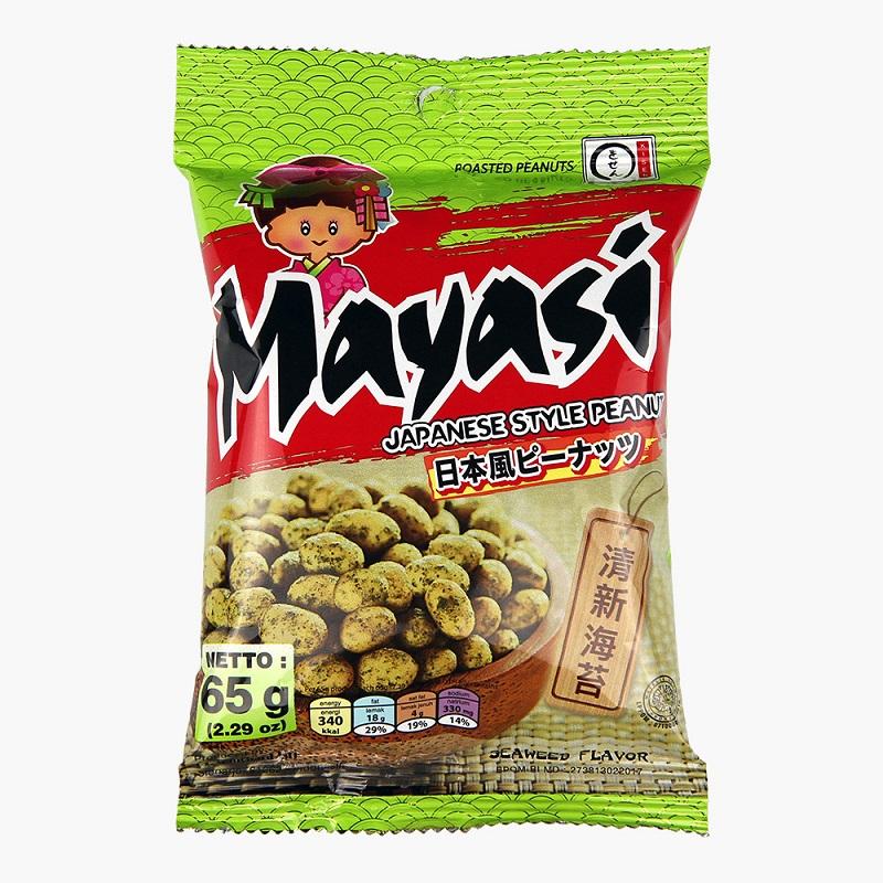 【Mayasi 日本娃娃】香酥花生6包組-海苔(效期:2019.04.19)