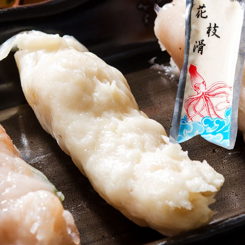 【鮮綠生活】鍋物必備! 手工花枝滑魚漿 (200g共12入)