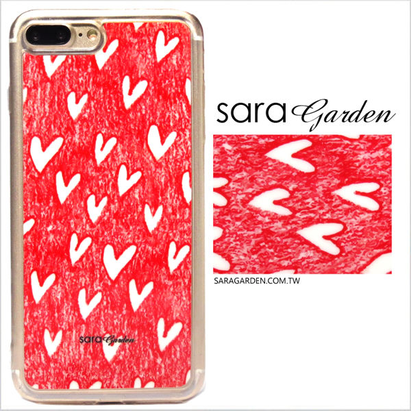 【Sara Garden】客製化 軟殼 蘋果 iphone7plus iphone8plus i7+ i8+ 手機殼 保護套 全包邊 掛繩孔 手繪愛心