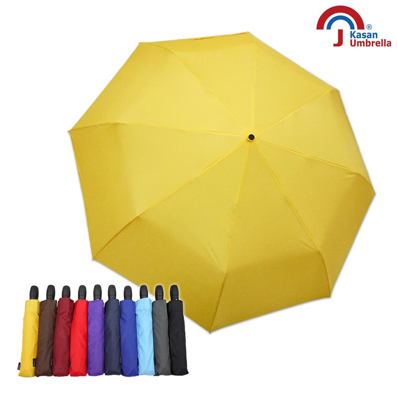 Kasan 晴雨傘 新大無敵自動開收雨傘 亮黃