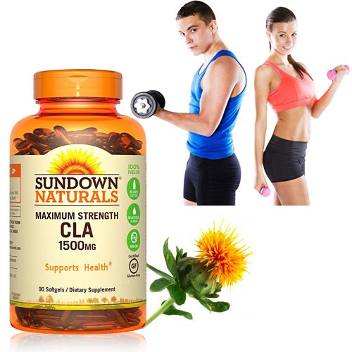 【超值優惠】Sundown日落恩賜 紅花籽油CLA 1500mg軟膠囊(90粒/瓶)-商品有效期限至2020/9月底