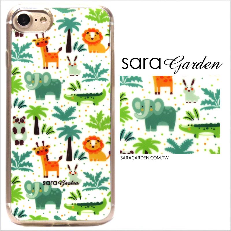 【Sara Garden】客製化 軟殼 蘋果 iPhone 6plus 6SPlus i6+ i6s+ 手機殼 保護套 全包邊 掛繩孔 手繪可愛動物