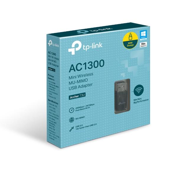 TP-Link Archer T3U 1300Mbps HD雙頻 Wi-Fi 網路 USB3.0 MU-MIMO無線網卡 / Archer T3U