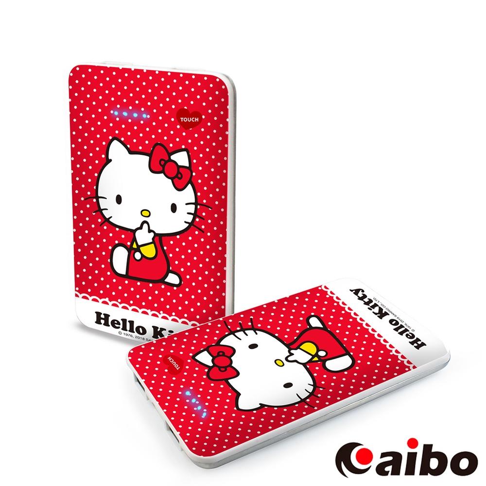 【Hello Kitty】閃亮華麗 7200mAh 極致輕薄行動電源-蕾絲紅