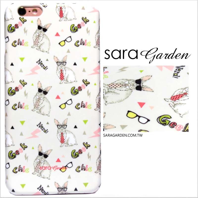 【Sara Garden】客製化 手機殼 蘋果 iPhone 6 6S 4.7吋 墨鏡 繽紛 兔兔 閃電 保護殼 硬殼